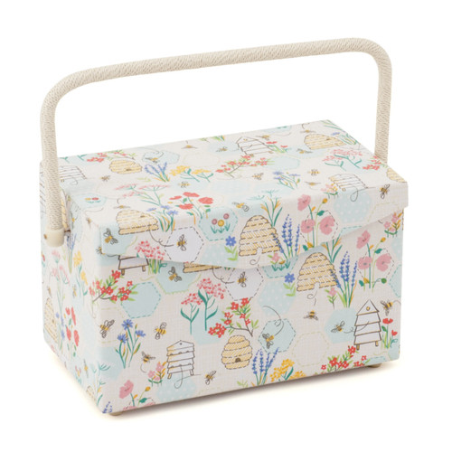 Sewing Bee Medium Sewing Box with Fold Over Lid & Inner Accessory Tray
