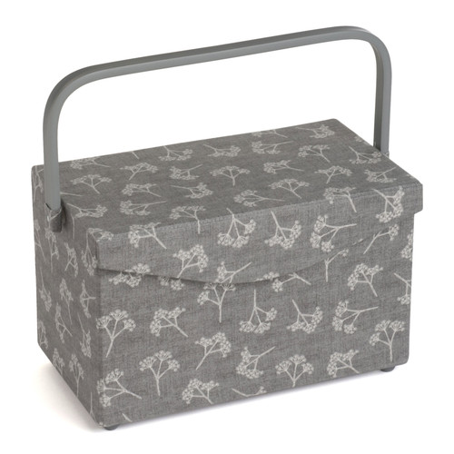 Cow Parsley Medium Sewing Box with Fold Over Lid & Inner Accessory Tray