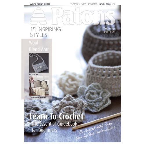Learn to Crochet Book with 15 Patterns