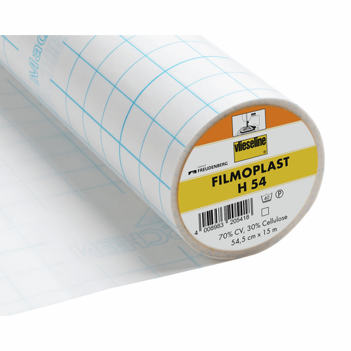 H54 Filmoplast Self-Adhesive Stabiliser/Backer for Machine Embroidery, 54cm wide, Sold Per Metre