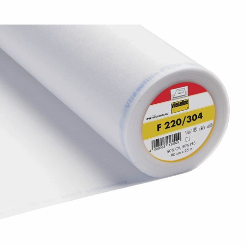 304/F220 Standard Medium Iron-on Interfacing, 90cm wide, Sold Per Metre