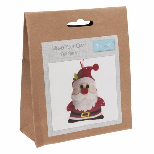Santa Father Christmas Felt Decoration Kit