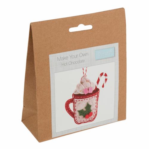 Hot Chocolate Christmas Felt Decoration Kit