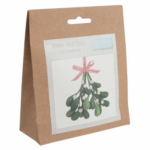 Mistletoe Christmas Felt Decoration Kit