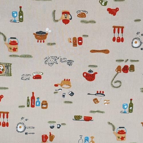 Let's Eat 100% Cotton Poplin Fabric, 110cm/43in wide, Sold Per HALF Metre