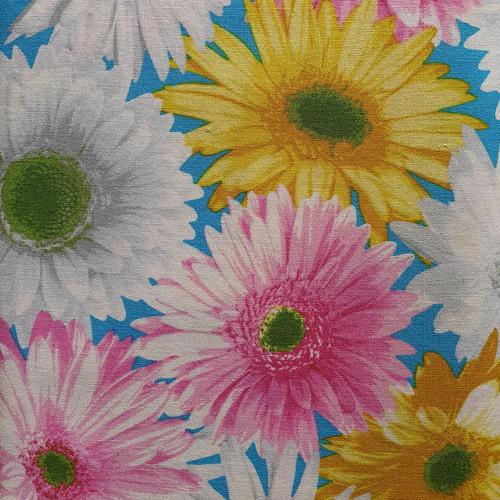 Bright Daisy Cotton Fabric, 112cm/44in wide, Sold Per HALF Metre