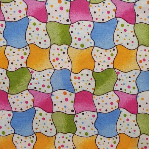 Distortion Check 100% Cotton Poplin Fabric, 110cm/43in wide, Sold Per HALF Metre