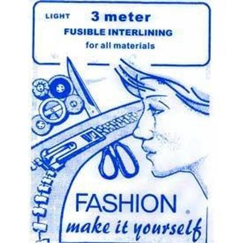 Light Weight Iron-on Interfacing (90cm x 3mtr Sheet)