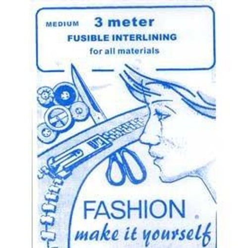 Medium Weight Iron-on Interfacing (90cm x 3mtr Sheet)