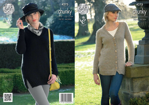 4275 Ladies Chunky Cardigan Size:71/76-112/117cm