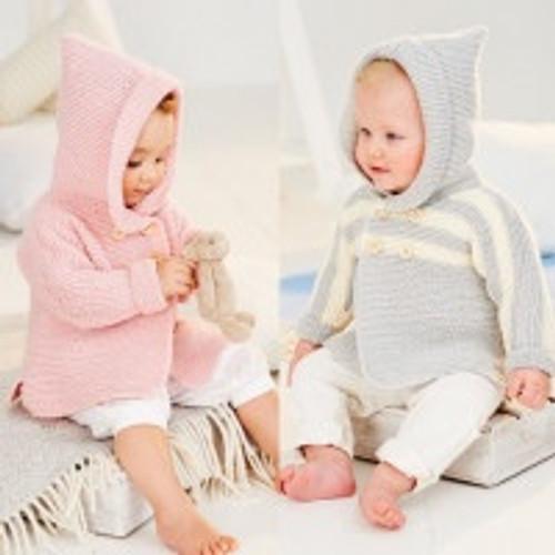9502 children cardigan bambino DK knitting pattern size: 36-56cm