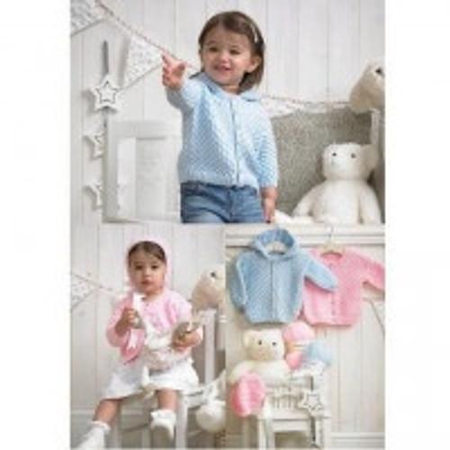 4005 Childrens Cardigan Wondersoft DK Knitting Pattern Size: 41-56cm