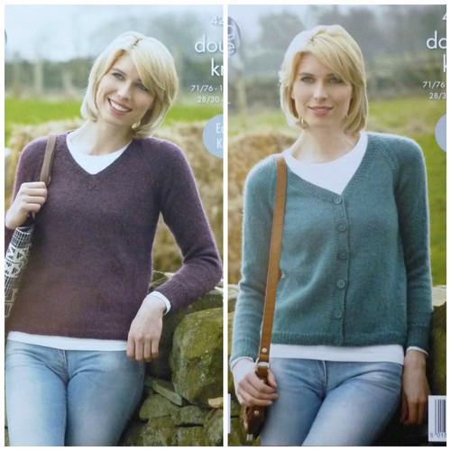 4268 Ladies DK Cardigan (Easy Knit)  Size: 112/117cm
