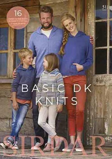 SIRDAR Basic DK Knits Book 511 16 designs for men, women and children