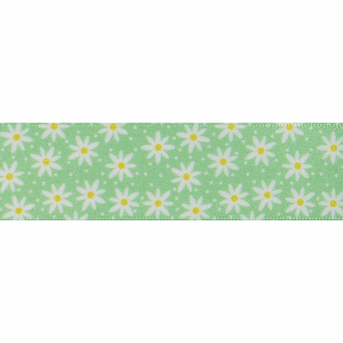 Daisy Chain-25mm in Green ( sold Per Metre