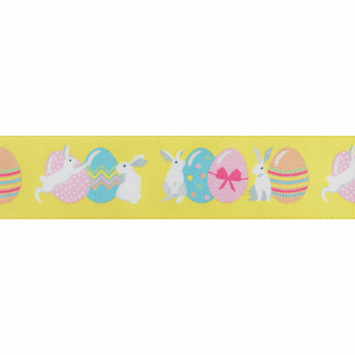Easter Bunny Ribbon, 25mm wide, Sold Per Metre