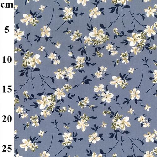Floral 100% Cotton Poplin Fabric, 110cm/43in wide, Sold Per HALF Metre
