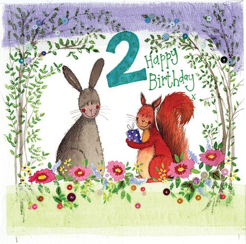 2 - 2nd Birthday Woodland Birthday Card