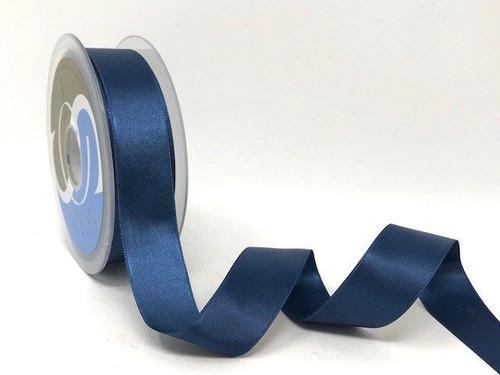 Antique Blue Satin Ribbon, 25mm wide, Sold Per Metre