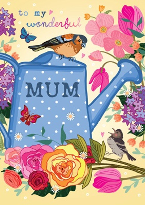 "Watering Can ""Mum"" Mother's Day Card"