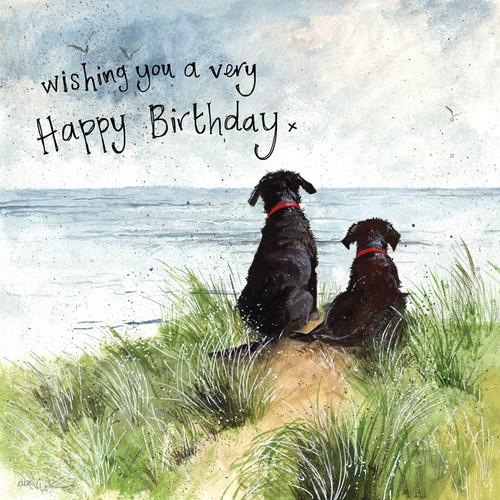 Dune Dogs Happy Birthday Card