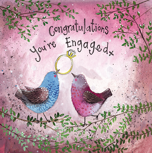 Birds of a Feather Engagement Card