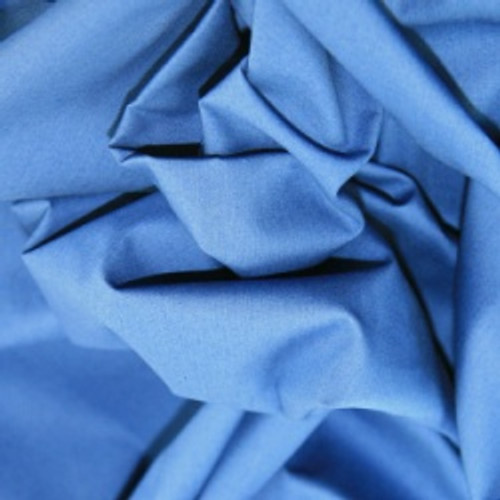 Copen Blue 100% Cotton Poplin Fabric, 112cm/44in wide, Sold Per HALF Metre