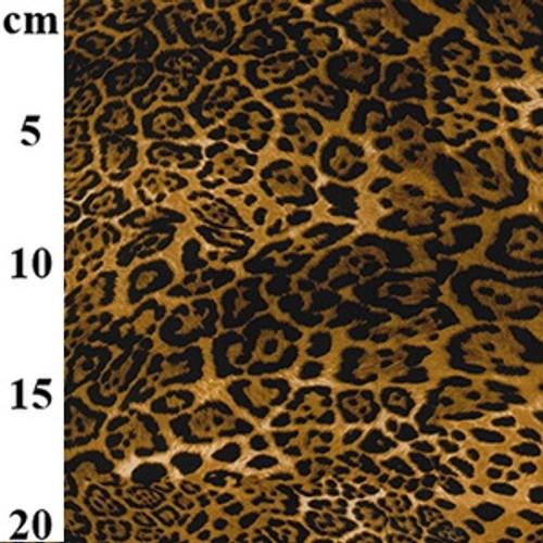 Leopard Print 100% Cotton Poplin Fabric, 112cm/44in wide, Sold Per HALF Metre