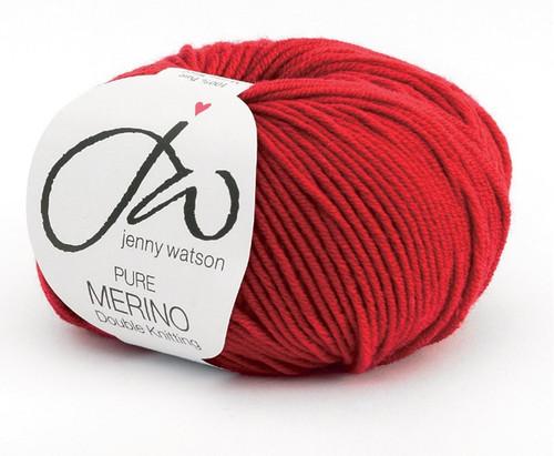 Jenny Watson Pure Merino DK -Red (50g)