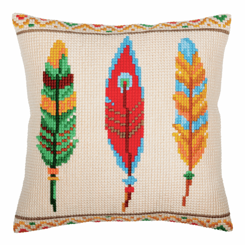 Cross Stitch Kit: Cushion: Plumelets For Dreamcatcher