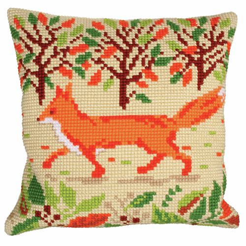 Cross Stitch Kit: Cushion: Red Fox