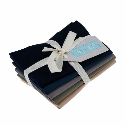 Autumn 100% Cotton Fat Quarter Fabric Bundle, 5 Pieces