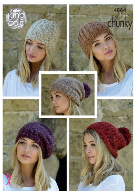 4864- Hats Knitted in Chunky