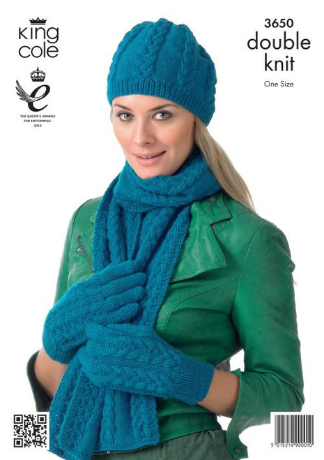 3650- Hats, Scarves and Gloves Knitted in Double Knit-