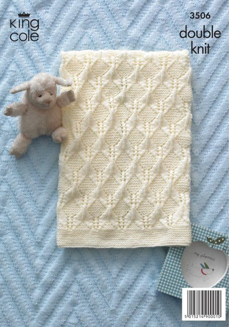 3506- Baby Blankets Knitted in Double Knit