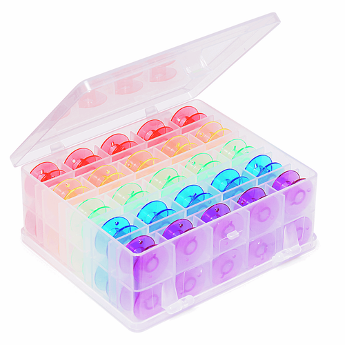 Bobbin Box: Plastic: filled with 50 Spools