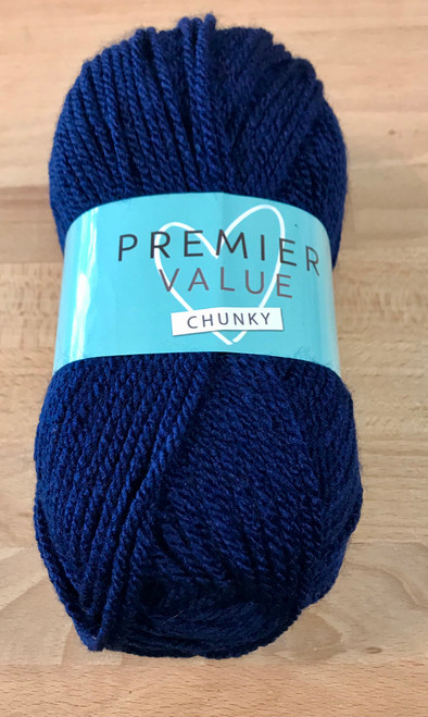 Navy Chunky Yarn by King Cole (100g)