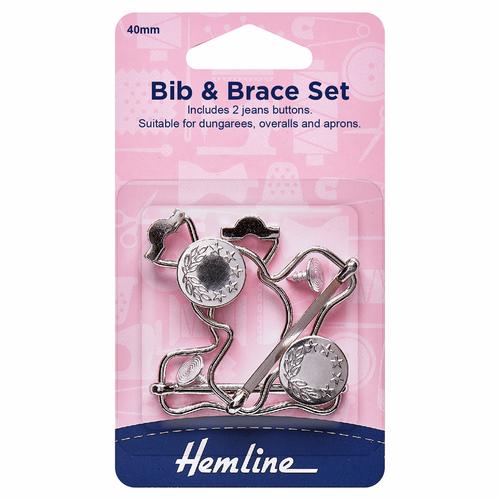 Silver 40mm Bib & Brace Set (2pc)
