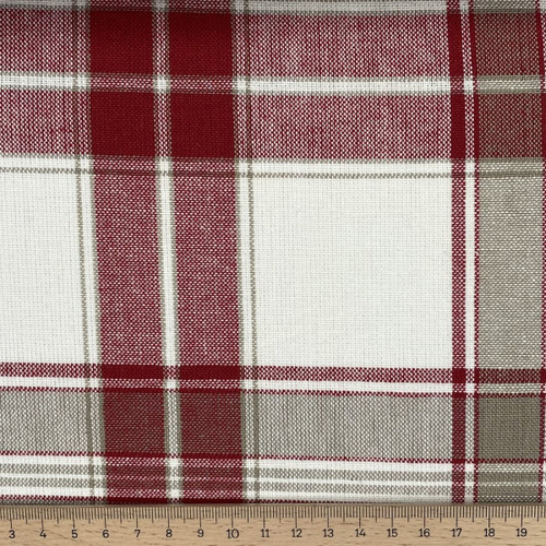 """Southwold Wine - 100% Cotton Canvas weight fabric - 140cm wide, Sold Per Half Metre"""""""