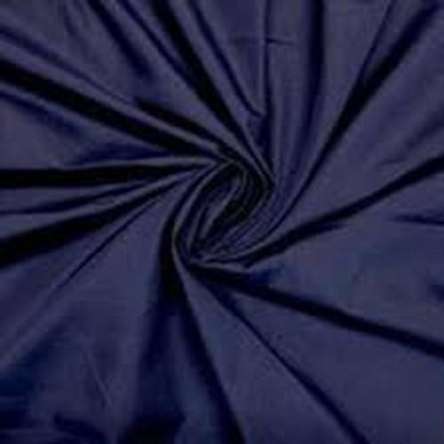 Navy Polycotton Poplin Fabric - 45in wide , Sold Per Half Metre