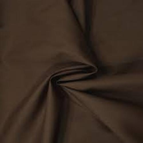 Chocolate Polycotton Poplin Fabric - 45in wide , Sold Per Half Metre