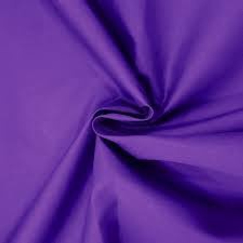 Purple Dress Polycotton Poplin Fabric - 45in wide , Sold Per Half Metre