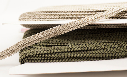 Putty Gimp Braid Upholstery Trim, 12mm wide (Sold Per Metre)