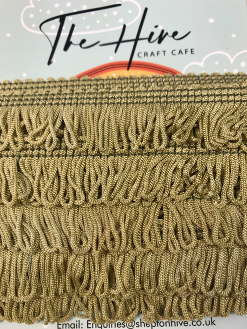 Sage Green Fringing - 25m/1inch ( Sold By The Metre)