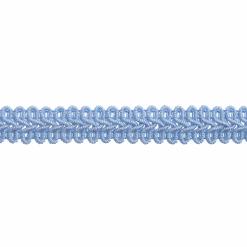 Light Blue Gimp Braid Upholstery Trim, 15mm (3/8in) wide (Sold Per Metre)