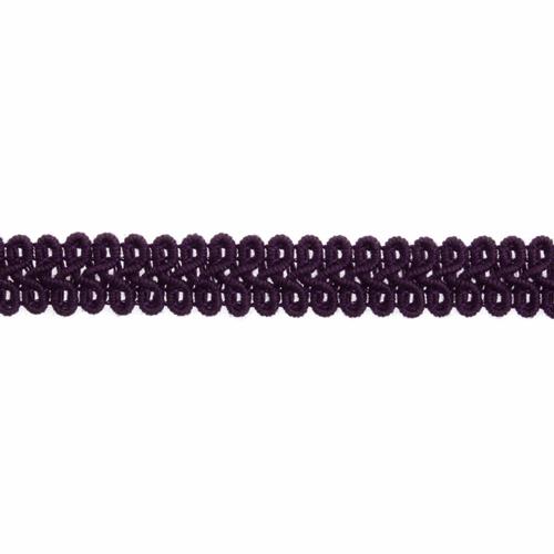 Purple Gimp Braid Upholstery Trim, 15mm (3/8in) wide, Sold Per Metre