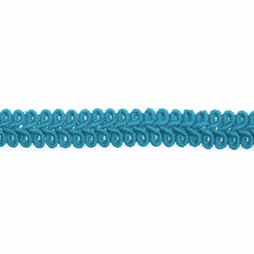 Turquoise Gimp Braid Upholstery Trim, 15mm (3/8in) wide, Sold Per Metre