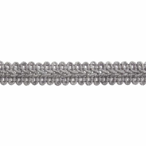 Sliver Gimp Braid Upholstery Trim, 15mm (3/8in) wide, Sold Per Metre