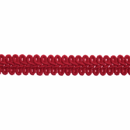 Red Gimp Braid Upholstery Trim, 15mm (3/8in) wide, Sold Per Metre
