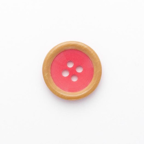 Cerise 4 Hole Buttons Size - 20mm (Sold Single)